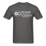 GO Vegan Today T-Shirt - charcoal
