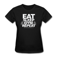 EAT SLEEP GYM REPEAT Women's T-Shirt - black