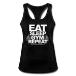 EAT SLEEP GYM REPEAT Women's Racerback Tank Top - black