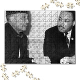 The Most honorable Elijah Muhammad & Dr Martin Luther King Wooden Jigsaw Puzzles 120 Pieces