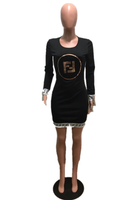 Fashion Long Sleeve  Slim Dress