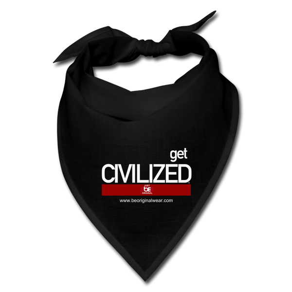 GET CIVILIZED Bandana - black