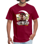 EAT TO LIVE T-Shirt - burgundy