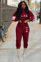 PINK Long Sleeve Two-piece Pants Set