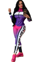 Active Print Gradient Two Piece FILA Suit