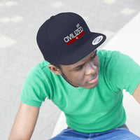 Get Civilized Unisex Flat Bill Hat