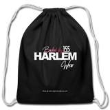 BACKED BY 155 HARLEM WEAR Drawstring Bag - black