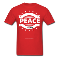 PEACE IS LIFE T-Shirt - red