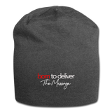 Born to Deliver The Message Beanie - charcoal gray