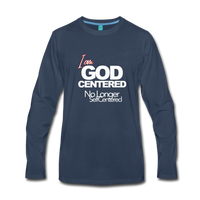 I am God Centered Premium Long Sleeve T-Shirt - navy