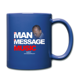 The Man The Message The Music  Color Mug - royal blue