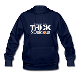 THICK & DELICIOUS Women's Hoodie - navy