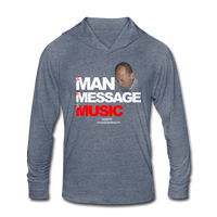 The Man The Message The Music Unisex Tri-Blend Hoodie Shirt - heather blue