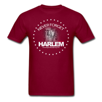 NEVER FORGET HARLEM T-Shirt - burgundy