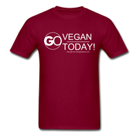 GO Vegan Today T-Shirt - burgundy