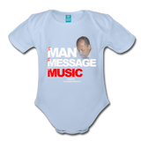 The Man The Message The Music  Short Sleeve Baby Bodysuit - sky
