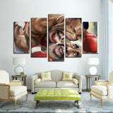 Mike Tyson 5 Panels Canvas Prints Wall Art for Wall Decorations