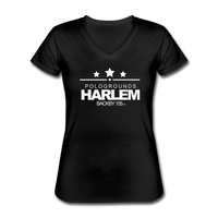 POLOGROUNDS HARLEM WOMENS  V-Neck T-Shirt - black