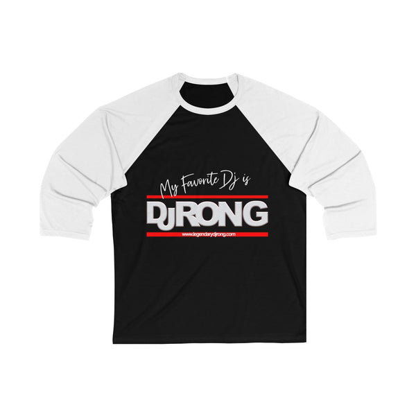 My favorite Dj is Dj Ron G (Womens 3/4 Sleeve Baseball Tee)