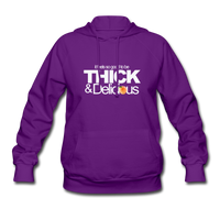 THICK & DELICIOUS Women's Hoodie - purple