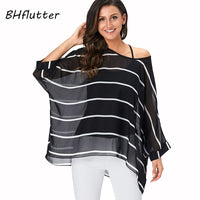 Women Striped Print Summer Tops