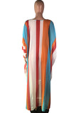 Multi-color Chiffon Long Sleeve SWAGGER DRESS