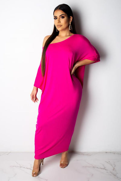 Solid PINK Casual Dress