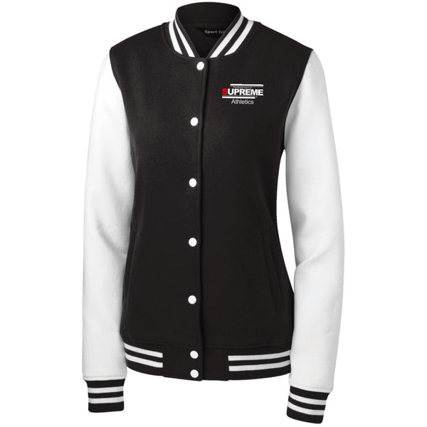 SUPREME ATHLETICS Women's Fleece Letterman Jacket