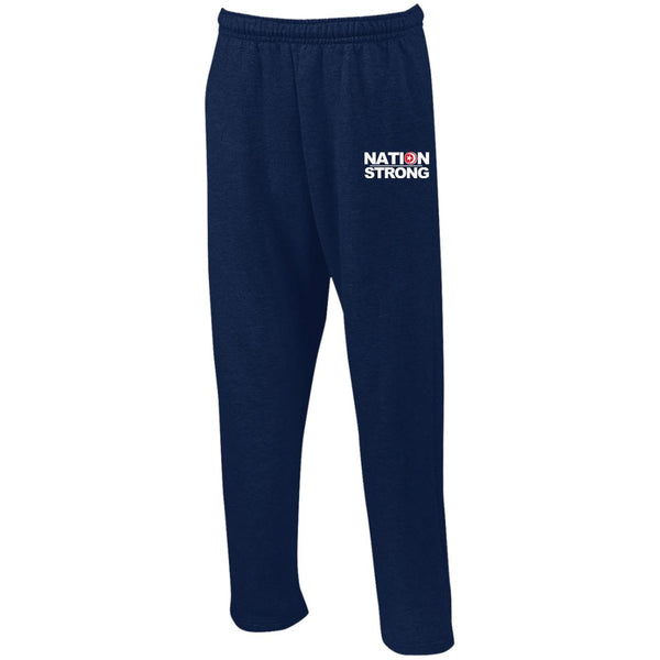 Nation Strong Open Bottom Sweatpants with Pockets