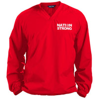 Nation Strong Pullover V-Neck Windshirt