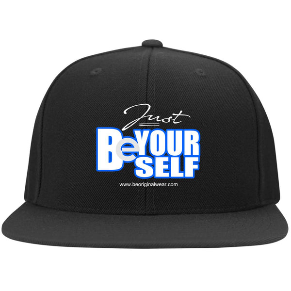 BE YOURSELF Flat Bill Twill Flexfit Cap
