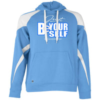 BE YOURSELF Color block Hoodie
