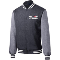 Nation Strong Fleece Letterman Jacket