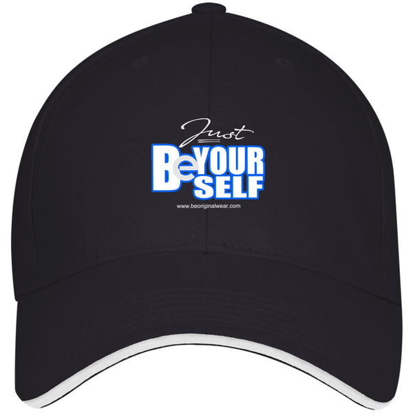 BE YOURSELF Twill Cap With Sandwich Visor