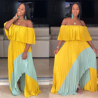 Casual Color  Off Shoulder Long Dress