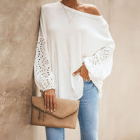 Elegant  Hollow Out Blouse