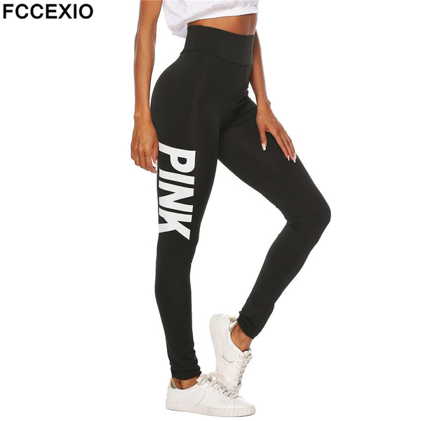 Women New High Waist Slim  Pink Leggings