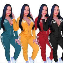 Load image into Gallery viewer, Floral Print Full Sleeve Winter tracksuit Women Set Overalls Sweatshirt+pant Lady fashion sexy two pieces suits casual