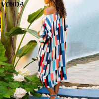 Women Striped Color Summer Dress