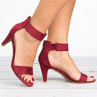 Women Heel  Buckle Strap  Sandal Shoes