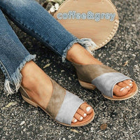 Women Summer  Casual  Peep Toe Low Heels Sandalias