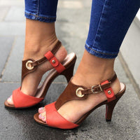 Women Summer Sexy Peep Toe Buckle Strap Fashion Sandal