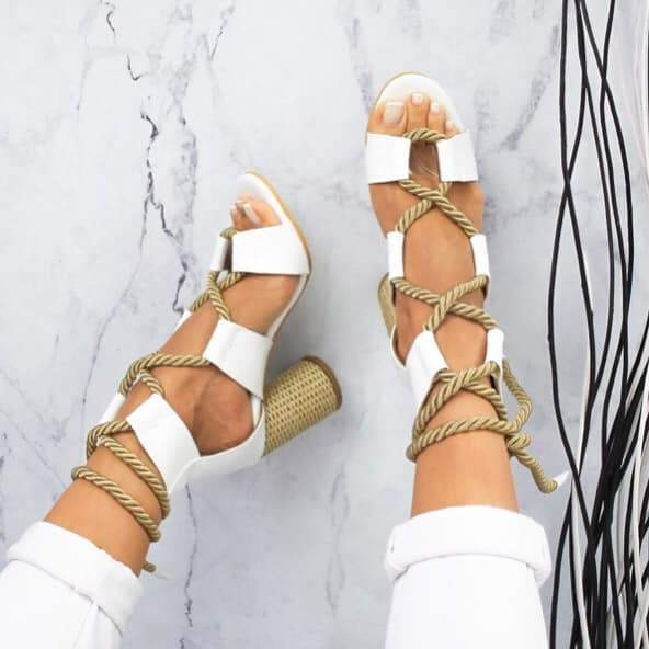 Women Colorful Strappy Sandal Shoes