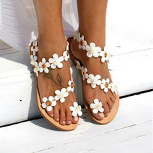 Load image into Gallery viewer, Women Bohemia Flower Flat Sandal