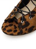 Peep Toe Leopard Print Ankle Boots