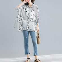 Load image into Gallery viewer, Women Vintage Chiffon Polka Dot Top