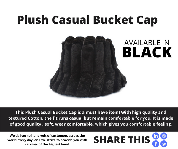 PLUSH CASUAL BUCKET CAP