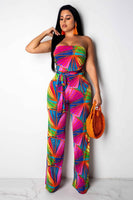 MULTI COLOR Sleeveless Wrapped Jumpsuits