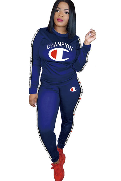 Champion Cotton Elastic two piece suit