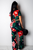 Casual Floral Two Piece
